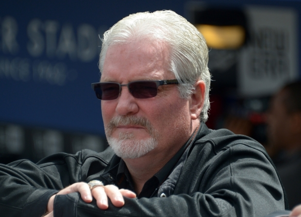 Apr 1, 2013; Los Angeles, CA, USA; San Francisco Giants general manager Brian Sabean attends the 2013 season-opening game against the Los Angeles Dodgers at Dodger Stadium. Mandatory Credit: Kirby Lee-USA TODAY Sports