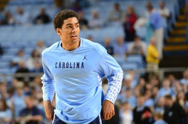 Mar 3, 2013; Chapel Hill, NC, USA; North Carolina Tar Heels forward James Michael McAdoo (43) on the court during warm ups. Mandatory Credit: Bob Donnan-USA TODAY Sports
