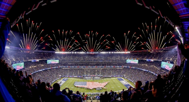 Nov 3, 2014; East Rutherford, NJ, USA;  General view of  MetLife Stadium prior to the start of Monday Night Football game between the New York Giants and the Indianapolis Colts. Mandatory Credit: Jim O'Connor-USA TODAY Sports