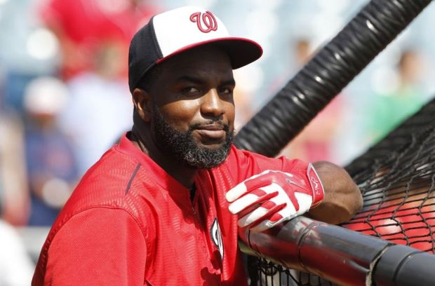 Apr 3, 2015; Tampa, FL, USA; Washington Nationals center fielder Denard Span (2) works out prior to the game against the New York Yankees at George M. Steinbrenner Field. Mandatory Credit: Kim Klement-USA TODAY Sports